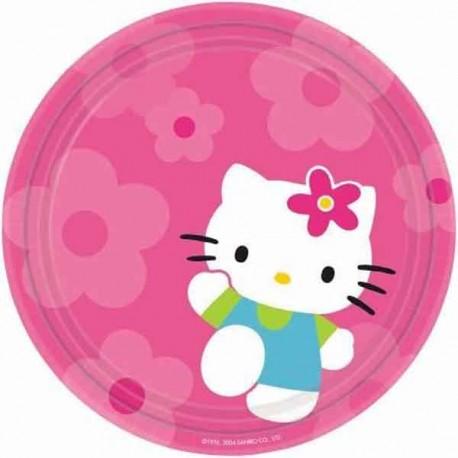Platos redondos 23 cm Hello Kitty 8Uni