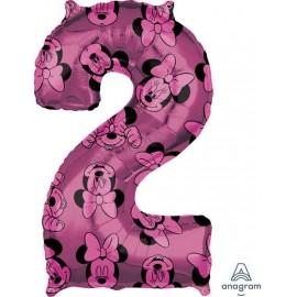 "Globos Foil 26"" (66cm) x 17"" (43Cm) Número 2 Minnie"