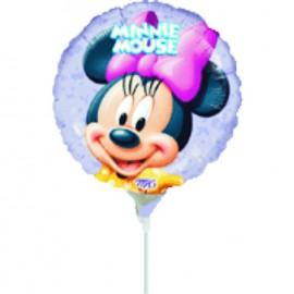 """Globos de foil de 9"""" Minnie redondo"""