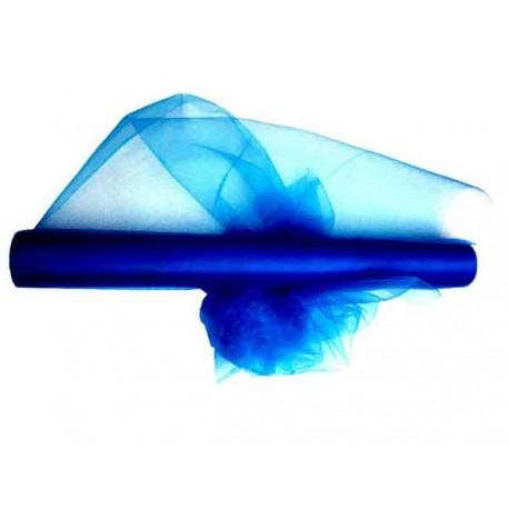 Tulle 30cm x 20m color azul rey