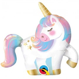 "Globos de Foil Minishape 14"" (36Cm) Unicornio Qualatex"