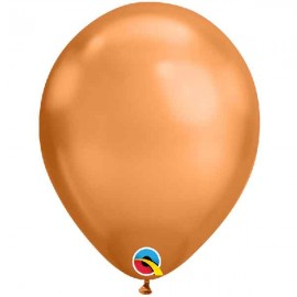 "Globos Redondos 11"" Chrome Bronce Qualatex"