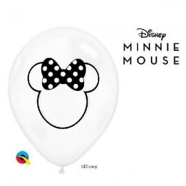 """Globos de 11"""" Silueta Minnie"""