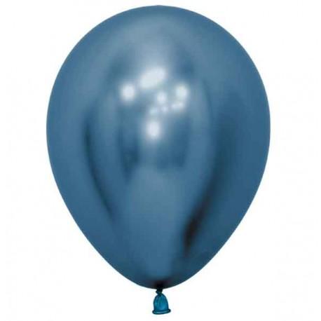 "Globos Redondos 6"" Reflex Azul"