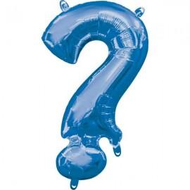 "Globos Foil de 16"" (40cm) Interrogacion Azul"