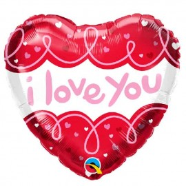 "Globos Foil 18"" Corazon Love You Loops"
