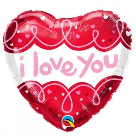 "Globos Foil 18"" Corazon Love You Loops"