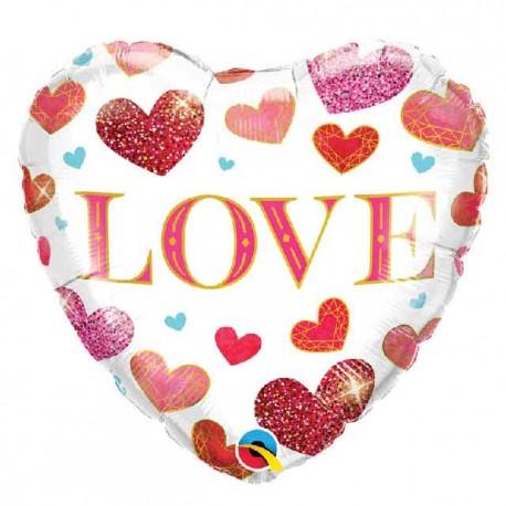 "Globos Foil 18"" (45Cm) Love Corazones"