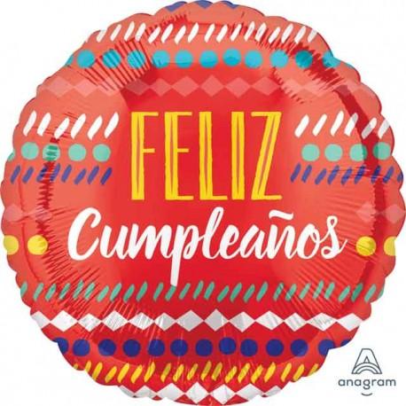 "Globos Foil 17"" (43Cm) Feliz Cumpleaños Festivo"