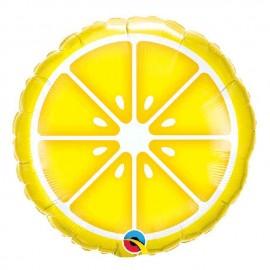 """Globos Foil Redondos 18"""" (45Cm) Limón"""