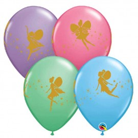 "Globos de 11"" Hadas y Destellos Qualatex"