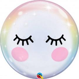 """Globos 22"""" Bubbles Eyelashes"""