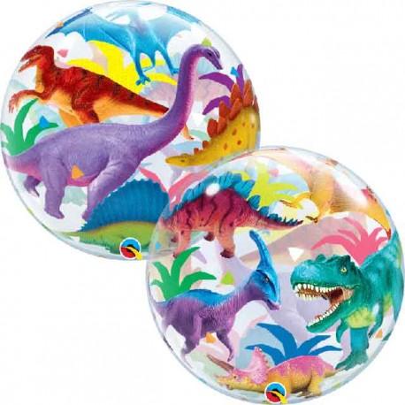 "Globos 22"" Bubbles Dinosaurios de Colores"