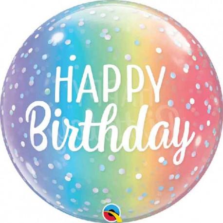 """Globos 22"""" Bubbles Birthday Puntos Sombreados"""