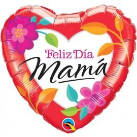 """Globos Foil 18"""" (46Cm) Feliz dia Mama"""