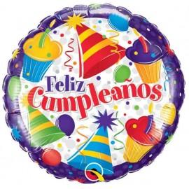 """Globos Foil 18"""" Feliz Cumple Cupcakes"""