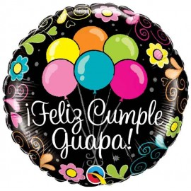 """Globos Foil 18"""" Feliz Cumple Guapa"""