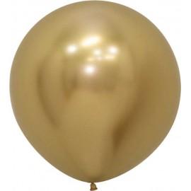 """Globos Látex de 24"""" (61Cm) Reflex Dorado"""