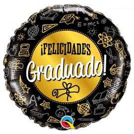 """Globos Foil 18"""" (45Cm) Felicidades Graduado"""