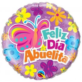 "Globos Foil 18"" (45Cm) Feliz Dia Abuelita"