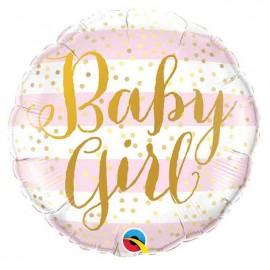 "Globos Foil 18"" (45Cm) Baby Girl rayas"