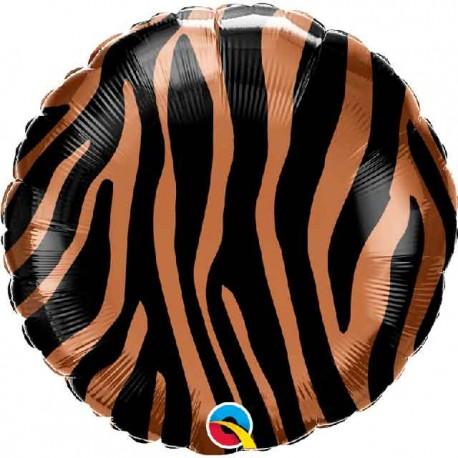 "Globos Foil 18"" (45Cm) Rayas Tigre"