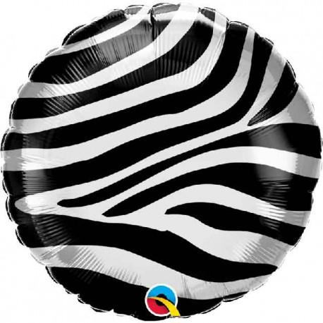 """Globos Foil 18"""" (45Cm) Rayas Cebra"""