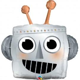 "Globos de foil 35"" Cabeza Robot"