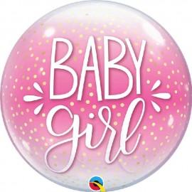 """Globos de 22"""" Bubbles Baby Girl"""