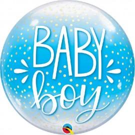 """Globos de 22"""" Bubbles Baby Boy"""