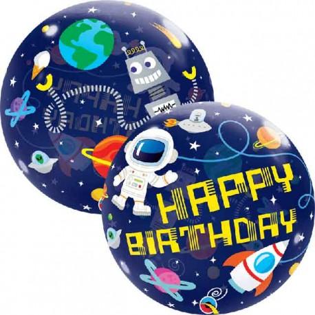 """Globos de 22"""" Bubbles Birthday Espacio"""