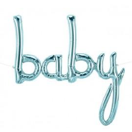 "Globos Foil de 34"" (86Cm) Baby Azul Pastel"