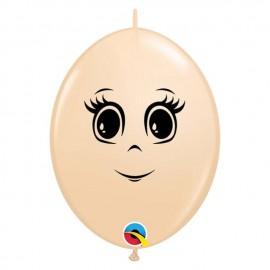 """Globos 6"""" cara Femenina Blush Quick Link"""