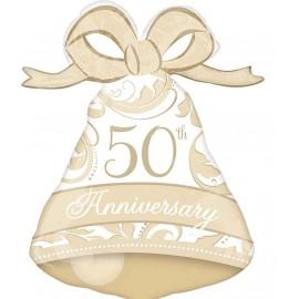 "Globos Foil 27"" X 22"" Aniversario 50 Oro"