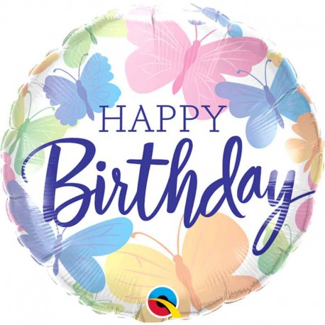 "Globos foil 18"" Birthday Mariposas"