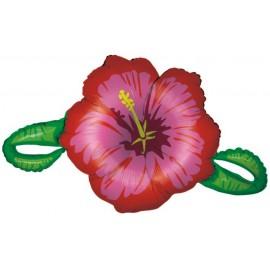 "Globos de foil de 39"" Hibiscus rojo"