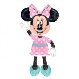 """Globos Foil Airwalker de 54"""" x 38"""" Minnie Lunares"""