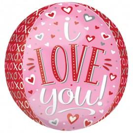 """Globos Foil 16"""" ORBZ I Love You"""