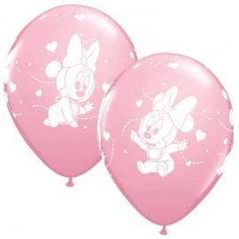 "Globos de Látex 12"" Baby Minnie B6"