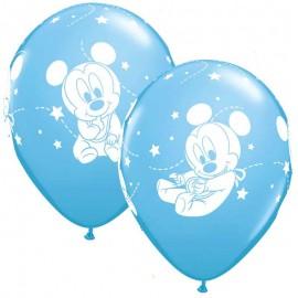 """Globos de Látex 12"""" Baby Mickey B6"""