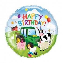 "Globos foil 18"" Birthday Granja"