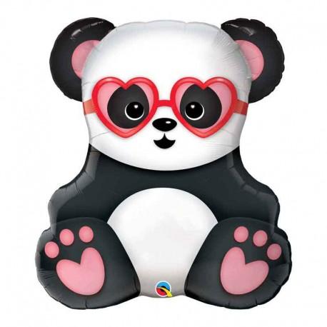 """Globos Foil de 32"""" (81Cm) Panda Gafas"""