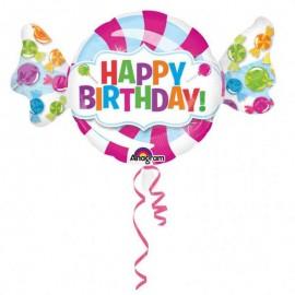 "Globos Foil 40"" Birthday Caramelo"