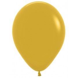 "Globos de 5"" Fashion solido Mostaza"