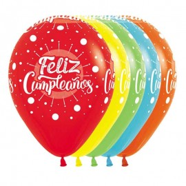 Globos R-12 Feliz Cumple Multicolor