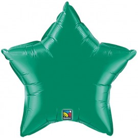 """Globos de foil Estrella de 4"""" Verde esmeralda"""