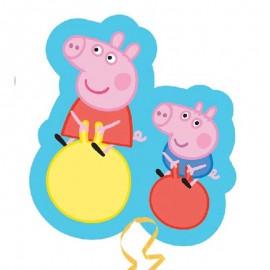 """Globos Foil supershape 21"""" X 19"""" Peppa Pig Saltos"""