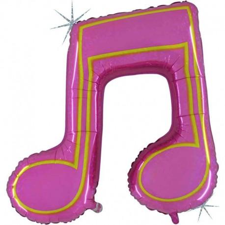 """Foil de 40"""" Nota musical Doble Holografica"""