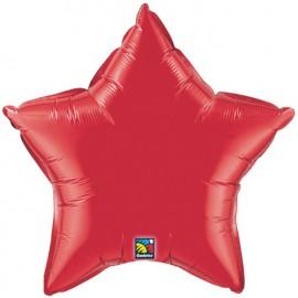 """Globos de foil Estrella de 4"""" Rojo rubí"""