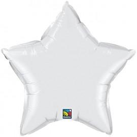 """Globos de foil Estrella de 4"""" Blanco"""